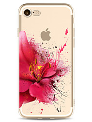 For iPhone 7 7plus 6S 6plus  Case Cover Flower Pattern High Penetration Painted TPU Material Phone Case
