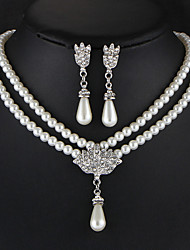 Wedding Party Special Occasion Daily Casual Alloy 1 Necklace 1 Pair of Earrings