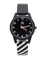 abordables -Mujer Reloj de Moda / Reloj de Pulsera Colorido Aleación Banda Casual Negro / Blanco / Rosa