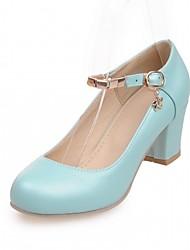 abordables -Femme Chaussures Cuir Verni / Similicuir Printemps / Eté Confort / Nouveauté Chaussures à Talons Marche Talon Bottier Bout rond Beige /