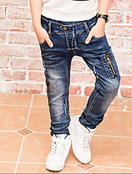 cheap -Boys' Daily Solid Jeans,Cotton Winter Spring Fall Cartoon Blue