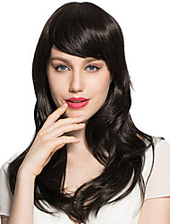 Black Wig Synthetic Fiber Women Party With Top Quality Hairstyle With Cap
