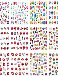 1pcs 12design Nail Art Sticker  Water Transfer Sticker Makeup Cosmetic Nail Art Design
