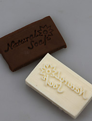 Natural Soap Letters Shape DIY Handmade Soap Seals Tool Design