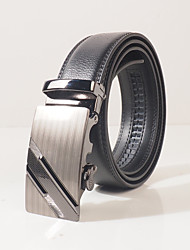 Men's Alloy Waist Belt,Black Party Work Casual Solid