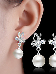 cheap -Drop Earrings Imitation Pearl Alloy Jewelry White Wedding Party Daily Casual Costume Jewelry