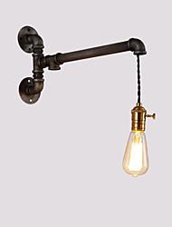 billiga -vintage industriella rör vägg lampor med strömbrytare kreativa ljus restaurang café bar vägg sconces 1-ljus målade finish