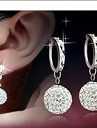 cheap -Hoop Earrings Women's Alloy Earring Rhinestone Classical Feminine Style