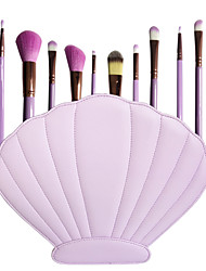10 Makeup Brush Set Synthetic Hair Professional Full Coverage Portable Face Eye Lip