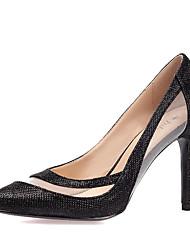 Mujer-Tacón StilettoTacones-Boda Exterior Oficina y Trabajo Vestido Informal Fiesta y Noche-Purpurina Tul-Dorado Blanco Negro Plata