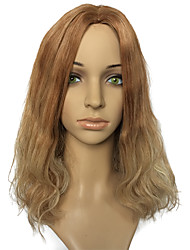 Hot Sale Capless Mid-Part Wig Golden Blonde Natural Wavy Party Wig Hairstyle With Wig Cap