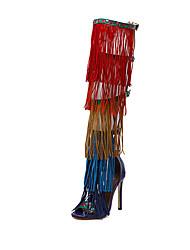 Heels Spring Summer Fall Comfort Leatherette Dress Party & Evening Stiletto Heel Tassel Screen Color