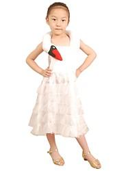 Costumes de Cosplay Costume de Soirée Bal Masqué Princesse Cosplay de Film Rouge Blanc Noir Couleur Pleine RobeHalloween Noël Carnaval Le