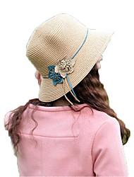 mulheres casuais chapéu floral palha meados brim chapéus de sol