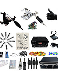 cheap -Professional Tattoo Kit 2 steel machine liner & shader 6 Tattoo Machine Inks Not Included