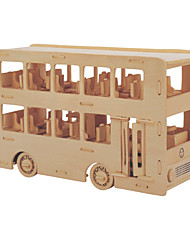 cheap -Building Blocks 3D Puzzles Jigsaw Puzzle Wooden Puzzles Educational Toy Toys Bus Professional Level DIY Kids' 1 Pieces