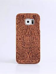 abordables -Funda Para Samsung Galaxy S7 edge / S7 Diseños Funda Trasera Caricatura Dura De madera para S7 edge / S7 / S6 edge