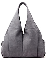 Women Bags Canvas Shoulder Bag for Casual All Seasons Blue Beige Gray Purple Coffee