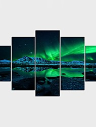 cheap -Landscape Style Modern,Five Panels Canvas Any Shape Print Wall Decor For Home Decoration