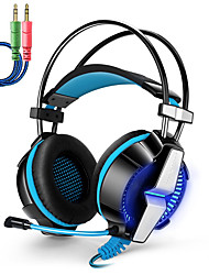 GS700 3.5mm Stereo Gaming Headset with Adjustable Mic Bass LED light for Gamer PS4 PC Computer Laptop Tablet iPhone Smartphone