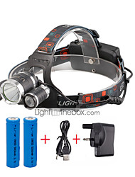 U'King Headlamps Headlight LED 4000 lm 4 Mode Cree XP-G R5 Cree XM-L T6 with Batteries and Charger Compact Size Easy Carrying