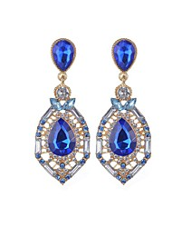 cheap -Crystal Drop Earrings Jewelry Party Daily Casual Crystal Alloy 1 pair Multi Color