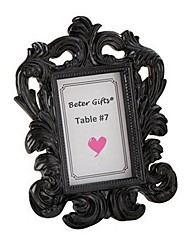 Black Elegant Resin Photo Frame 12 x 9.5 x 2 cm Wedding Favors