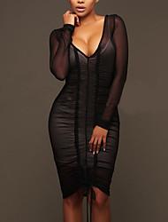 cheap -Women's Party Club Sexy Casual Bodycon Dress