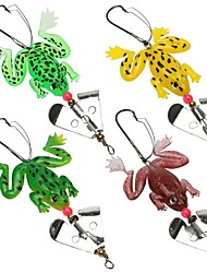 cheap -4 pcs Soft Bait Others Fishing Lures Frog Soft Bait Soft Plastic Silicon Sea Fishing Bait Casting Spinning Jigging Fishing Freshwater