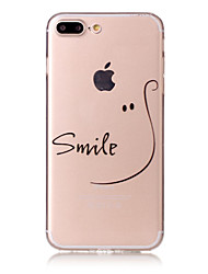Per iPhone X iPhone 8 Custodie cover Fantasia/disegno Custodia posteriore Custodia Frasi famose Morbido TPU per Apple iPhone X iPhone 8