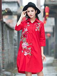 camicia ricami etnici grandi cantieri lungo tratto delle donne&# 39; s letteraria primavera retro della camicia di fascia alta T-shirt
