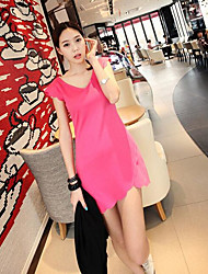 New summer wave edge v-neck dress Slim package hip fashion dress super good quality Cheap