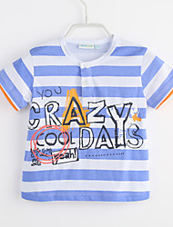 cheap -Baby Boys' Daily Striped Tee, Cotton Summer Light Blue