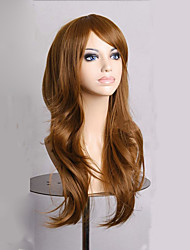 cheap -Fashion Dark Brown Long Wavy Girls Wig Synthetic Lolita Women Cosplay Wigs 4 Colors