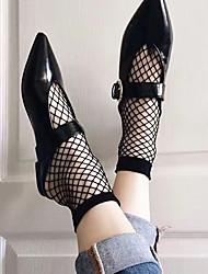 cheap -Women's Thin Socks,Polyester Solid Black
