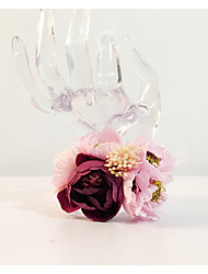 "cheap -Wedding Flowers Round Wrist Corsages Wedding Party/ Evening Dried Flower Metal 8.27""(Approx.21cm)"