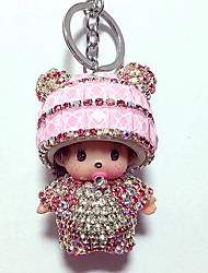 cheap -Dolls Key Chain Toys Toys Crystal Cartoon Lovely 1 Pieces Boys' Girls' New Year Christmas Carnival Gift
