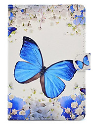 cheap -Case For Apple iPad Mini 4 iPad Mini 3/2/1 with Stand Pattern Full Body Cases Butterfly Hard PU Leather for iPad Mini 4 iPad Mini 3/2/1