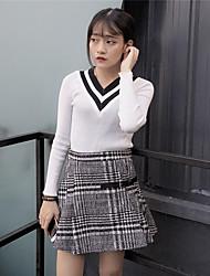 segno autunno e l'inverno 2016 la versione coreana era sottile maglia con scollo a V a maniche lunghe sottile femminile
