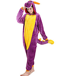 kigurumi Pyjamas Dragon Costume Violet Costumes de Cosplay Collant / Combinaison Cosplay Fête / Célébration Pyjamas Animale Halloween