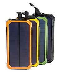 Недорогие -солнечная батарея водонепроницаемый 16000 мАч солнечное зарядное устройство с двумя портами usb внешнее зарядное устройство powerbank для смартфона со светодиодной подсветкой