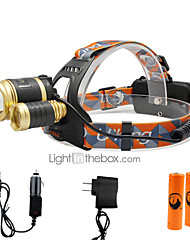 U'King Headlamps Headlight LED 6000 lm 3 4 Mode Cree XM-L T6 Adjustable Focus Compact Size Easy Carrying High Power Zoomable for