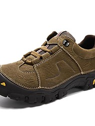 cheap -Men's Shoes Nappa Leather Spring Summer Fall Winter Comfort Athletic Shoes Hiking Shoes for Athletic Casual Work & Safety Outdoor Black