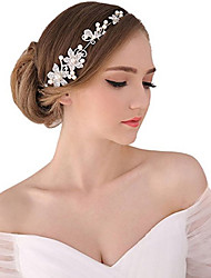 cheap -Pearl / Crystal / Fabric Tiaras / Headbands / Flowers with 1 Wedding / Special Occasion / Party / Evening Headpiece / Alloy