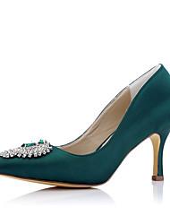 saltos partido do inverno queda de casamento tecido conforto verão&vestido de noite stiletto calcanhar brilho cintilante verde