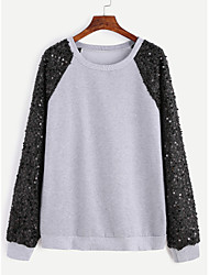 ebay AliExpress Europe new sweater sequin long sleeve raglan