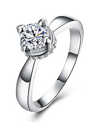 preiswerte -Damen Ring Kristall Kubikzirkonia Basis Einzigartiges Design Tattoo Stil Natur Geometrisch Kreis Freundschaft Vintage Luxus-Schmuck