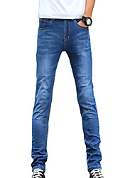cheap -Men's Cotton Slim Jeans Pants - Solid Colored