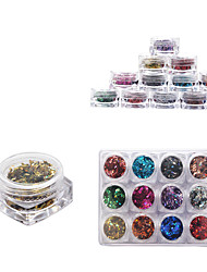 cheap -12 Color Full Nail Tips Optional Small Square Boxed Nestle Symphony of Transparent Rhombus Small Sequins