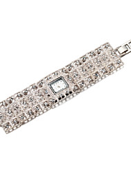 cheap -Men's Women's Quartz Bracelet Watch Japanese Hot Sale Band Elegant Silver